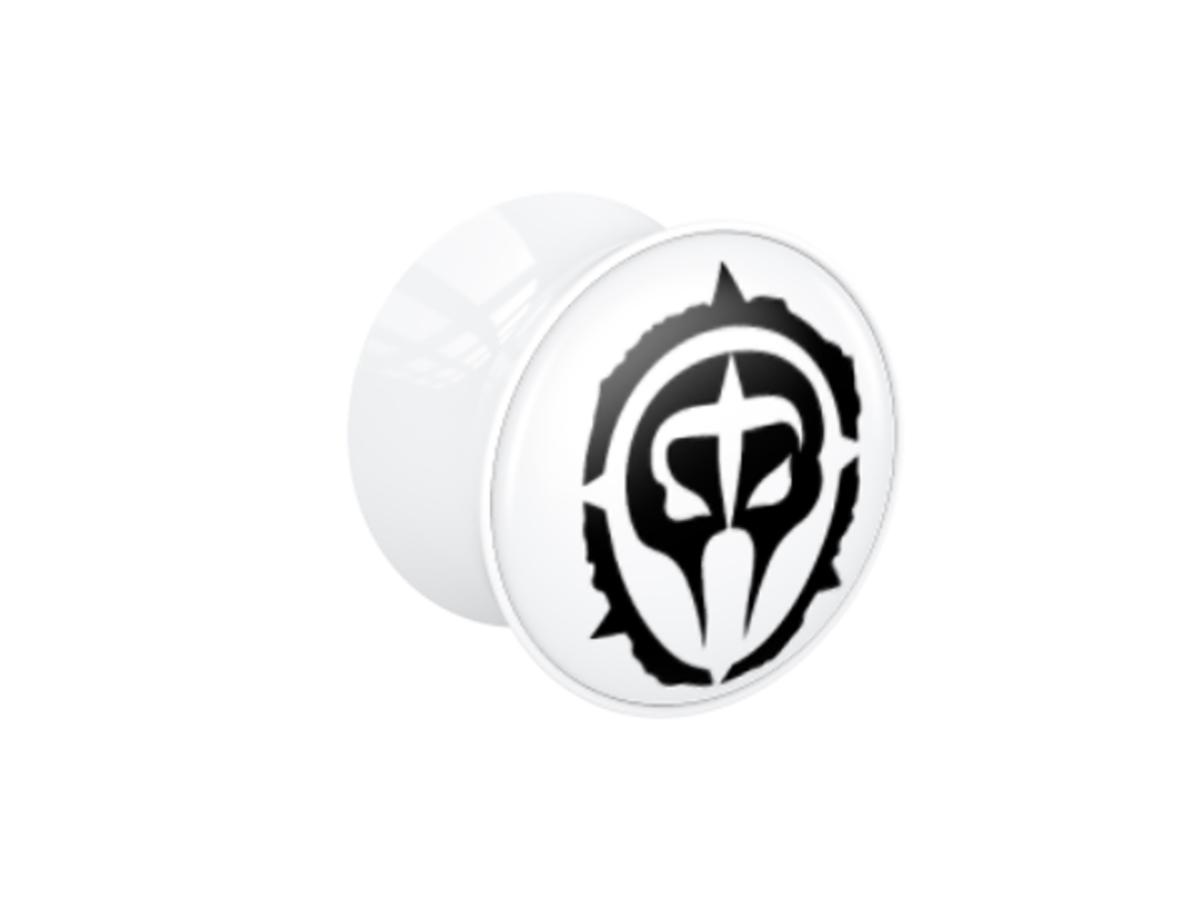 Plug - weiß - Logo schwarz