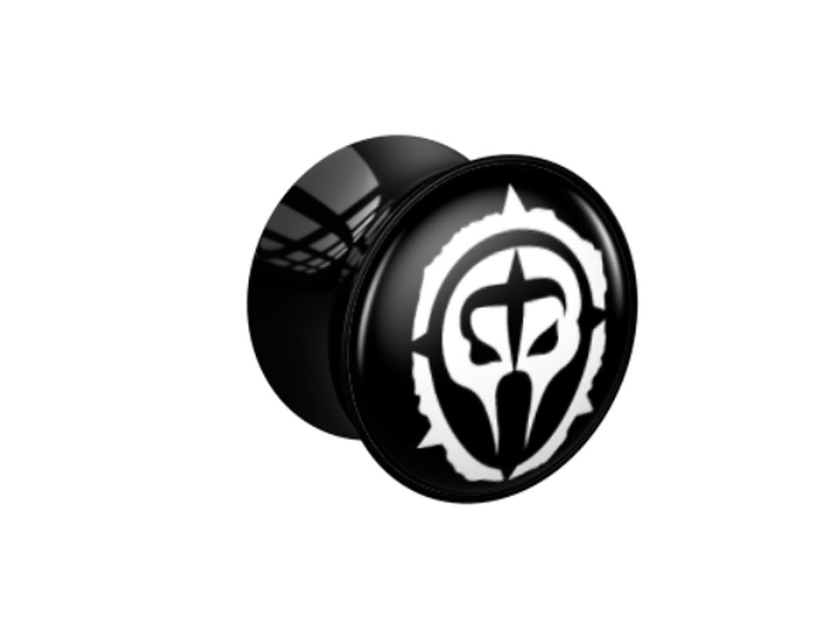 Plug - schwarz - Logo weiß